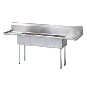 Turbo Air Tscs 3 21 60 Three Compartment Sink W 15 Dr Etundra