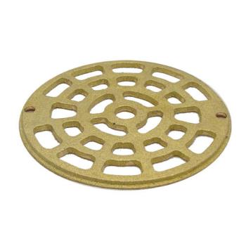 "11507 - Commercial - 4 7/8"" Round Brass Floor Drain Strainer Product Image"