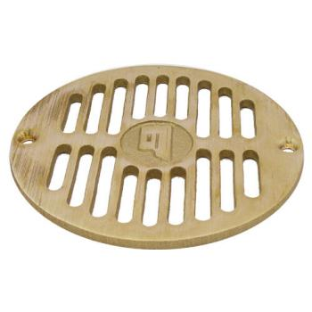 "11508 - Commercial - 5 1/2"" Round Brass Floor Drain Strainer Product Image"