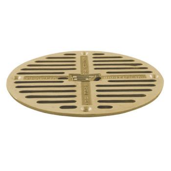 "11509 - Commercial - 7 1/2"" Round Brass Floor Drain Strainer Product Image"