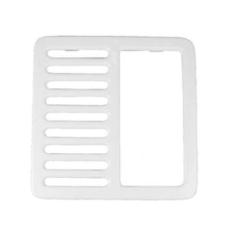 "11526 - Commercial - 9 1/4"" Porcelain 1/2 Floor Sink Top Grate Product Image"