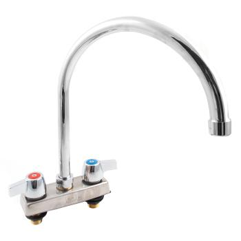 99236 - BK Resources - BKD-8G-G - 4 in Deck Mount WorkForce Faucet w/ 8 in Gooseneck Spout Product Image