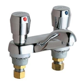 13217 - Chicago Faucet - 802-665CP - Deck Mount Lavoratory Metering Faucet Product Image