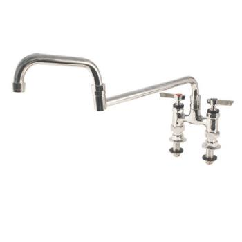 18218 - Encore - KL57-4018-SE1 - 4 in Deck Mount Faucet w/ Double Jointed Spout Product Image