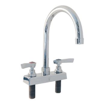 13620 - Encore Plumbing - TLL11-4002SE1 - 4 in Deck Mount Faucet w/ Swivel Gooseneck Spout Product Image