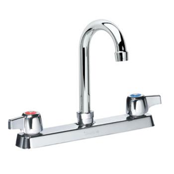 KRO13802L - Krowne - 13-802L - Deck Mount Faucet With 8 in Centers & 8 1/2 in Swivel Gooseneck Spout Product Image