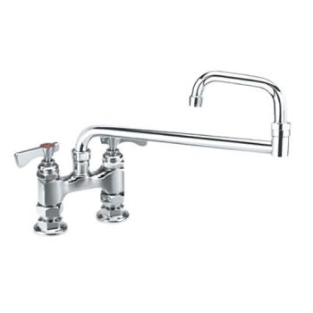 KRO15418L - Krowne - 15-418L - 4 in Royal Series Deck Mount Faucet w/ Jointed Spout Product Image