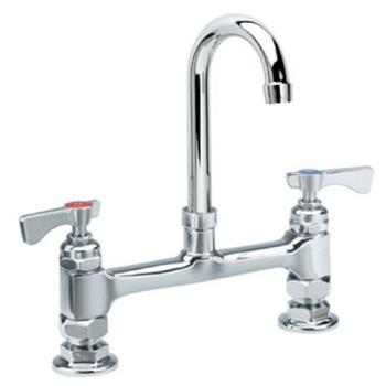 KRO15801L - Krowne - 15-801L - Royal Series Deck Mount Faucet With 8 in Centers & 6 in Swivel Gooseneck Product Image