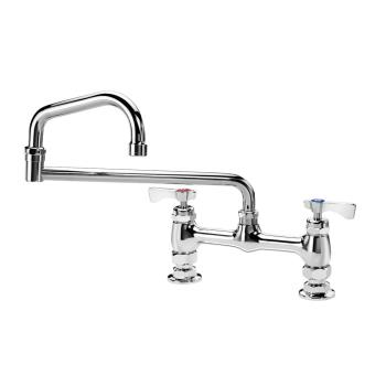 KRO15818L - Krowne - 15-818L - 8 in Deck Mount Royal Series Faucet w/ 18 in Double Jointed Spout Product Image