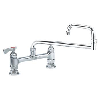 KRO15818L - Krowne - 15-818L - 8 in Royal Series Deck Mount Faucet w/ 18 in Jointed Spout Product Image