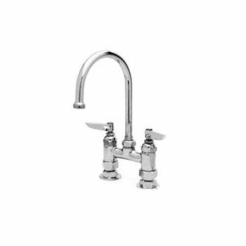 26374 - T&S Brass - B-0325 - 4 in Heavy Duty Deck Mount Faucet With Swivel Gooseneck Product Image