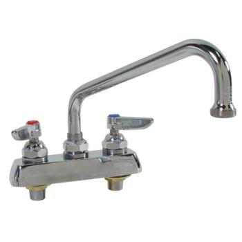 15162 - T&S Brass - B-1113 - 4 in Heavy Duty Deck Mount Faucet With 12 in Spout Product Image