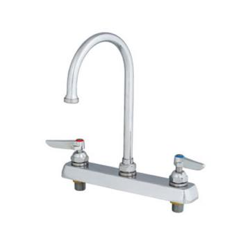 TSBB1142 - T&S Brass - B-1142 - 8 in Deck Mount Faucet w/ 6 in Gooseneck Spout Product Image