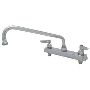 "15166 - T&S Brass - Heavy Duty 8"" Deck Mount Faucet w/ 14"" Spout Product Image"