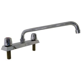 13712 - Top-Line - TLL11-8012SE1 - 8 in Deck Mount Faucet w/ 12 in Spout Product Image