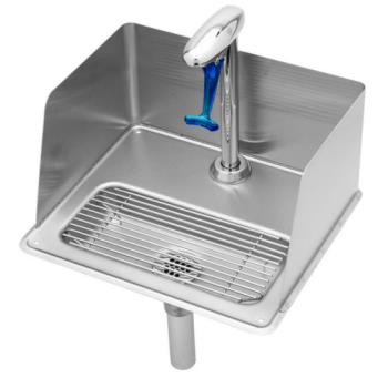 TSBB1235 - T&S Brass - B-1235 - Pedestal Glass Filler and Drip Pan with Splash Guard Product Image