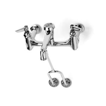 TSBB0655BSTP - T&S Brass - B-0655-BSTP - 8 in Service Sink Faucet w/ Wall Bracket Product Image