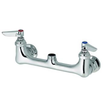 15135 - T&S Brass - B-0230-LN - Wall Mount Double Pantry Swivel Base Faucet Product Image