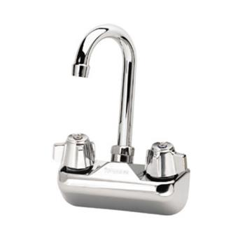 26939 - Krowne - 10-400L - Wall Mount Sink Faucet With 4 in Centers & 3 1/2 in Swivel Gooseneck Spout Product Image