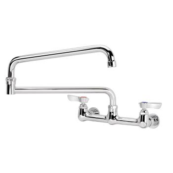 KRO12824L - Krowne - 12-824L - 8 in Wall Mount Faucet w/ 4 in Double Jointed Spout Product Image