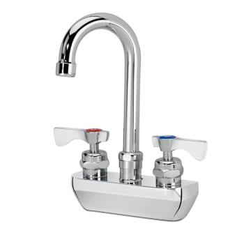 14225 - Krowne - 14-400L - 4 in Heavy Duty Wall Mount Faucet w/ Swivel Gooseneck Spout Product Image