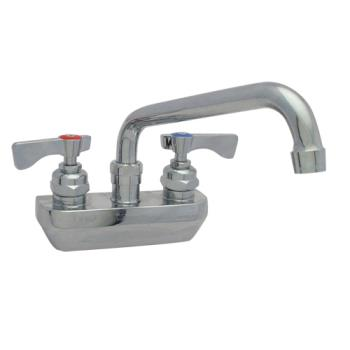 14228 - Krowne - 14-408L - Heavy Duty Wall Mount Faucet w/ 4 in Centers & 8 in Spout Product Image