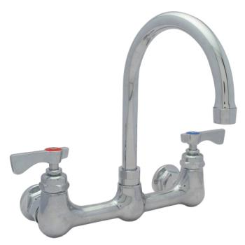 14220 - Krowne - 14-801L - 8 in Heavy Duty Wall Mount Faucet w/ Swivel Gooseneck Spout Product Image