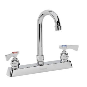KRO15502L - Krowne - 15-502L - Royal Series Wall Mount Faucet With 8 1/2 in Gooseneck Spout Product Image