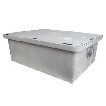 95450 - Canplas - 3925A02LO - Endura® Low Profile 25 GPM/50 Lb Grease Trap Product Image