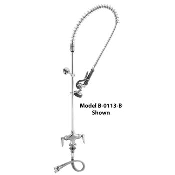 TSBB0113B - T&S Brass - B-0113B - Deck Mount Pre-Rinse Assembly w/Single Inlet & Flex Lines Product Image