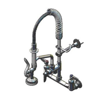 TSBMPZ8WLN06 - T&S Brass - MPZ-8WLN-06 - Wall Mount Mini Pre-Rinse with 6 in Add-On Nozzle Product Image