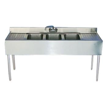 95354 - Krowne - 18-53C - 60 in Three Compartment Bar Sink With Drainboards Product Image