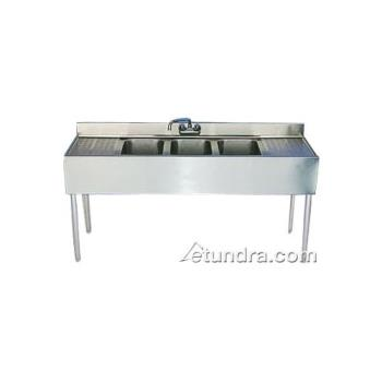 95355 - Krowne - 18-63C - 72 in Three Compartment Bar Sink With Drainboards Product Image