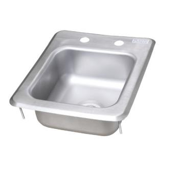 99249 - BK Resources - BK-DIS-0909-5 - 9 in x 9 in x 5 in One Compartment Drop-In Sink Product Image