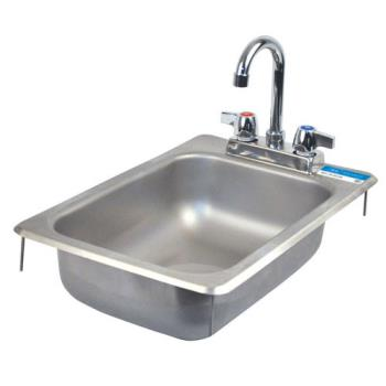 99252 - BK Resources - BK-DIS-1014-5D - 10 in x 14 in x 5 in One Compartment Sink Product Image