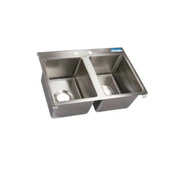 99255 - BK Resources - BK-DIS-1416-2 - 14 in x 16 in x 10 in Two Compartment Sink Product Image