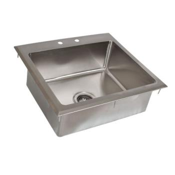 99247 - BK Resources - BK-DIS-2016-8 - 20 in x 16 in x 8 in One Compartment Drop-In Sink Product Image