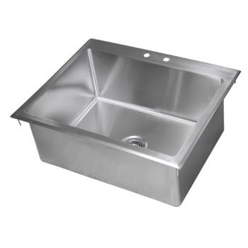 99250 - BK Resources - BK-DIS-2820 - 28 in x 20 in x 12 in One Compartment Drop-In Sink Product Image