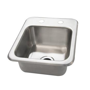 BKRDDI0909524 - BK Resources - DDI-0909524 - 9 in x 9 in x 5 in One Compartment Drop In Sink Product Image