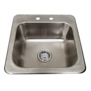BKRDDI1614824 - BK Resources - DDI-1614824 - 16 in x 14 in x 8 in One Compartment Drop-In Sink Product Image