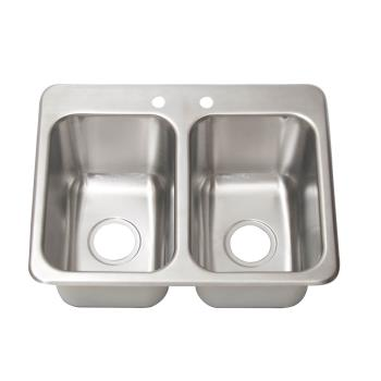 BKRDDI210141024 - BK Resources - DDI2-10141024 - 14 in x 10 in 2-Compartment Drop-In Sink Product Image