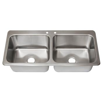 BKRDDI220161224 - BK Resources - DDI2-20161224 - 20 in x 16 in Two Compartment Drop-In Sink Product Image