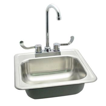 "11567 - Commercial - 15"" Drop-In Hand Sink w/ Faucet Product Image"