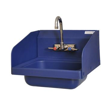 BKRAPHSW1410SSBE - BK Resources - APHS-W1410-SSBE - Antimicrobial Hand Sink w/ Splash Guards Product Image