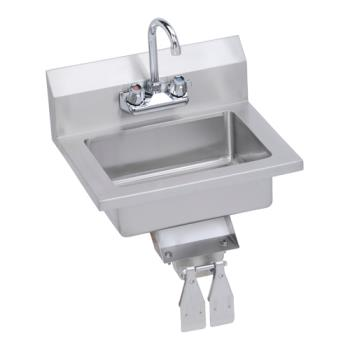 ELKEHS18KVX - Elkay - EHS-18-KVX - 18 x 14 1/2 in Hand Sink With Knee Valve Product Image