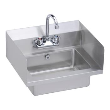 ELKEHS18SDX - Elkay - EHS-18-SDX - x 14 1/2 in Hand Sink w/ Side Splashes And Overflow Product Image