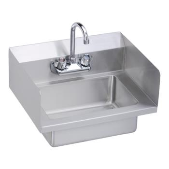 ELKEHS18SSX - Elkay - EHS-18-SSX - 18 x 14 1/2 in Hand Sink w/ Two Side Splashes Product Image