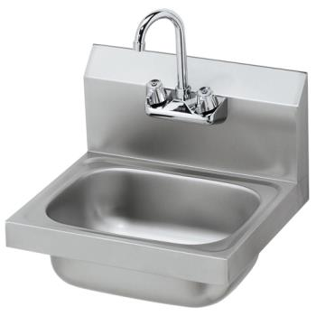 11594 - Krowne - HS-2L - 16 in Wall Mount Hand Sink With Gooseneck Faucet Product Image