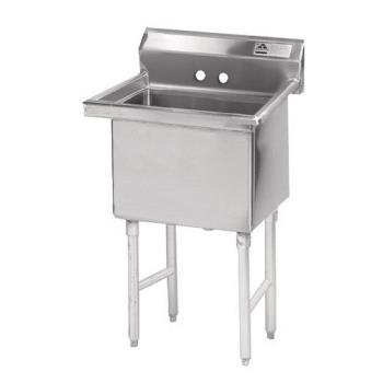 ADVFC12424X - Advance Tabco - FC-1-2424-X - 24 in x 24 in x 14 in 1 Compartment Sink w/ No Drainboards Product Image