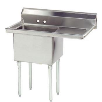 ADVFE1242424RX - Advance Tabco - FE-1-2424-24R-X - 24 in x 24 in x 14 in 1-Compartment Sink w/ Right Drainboard Product Image